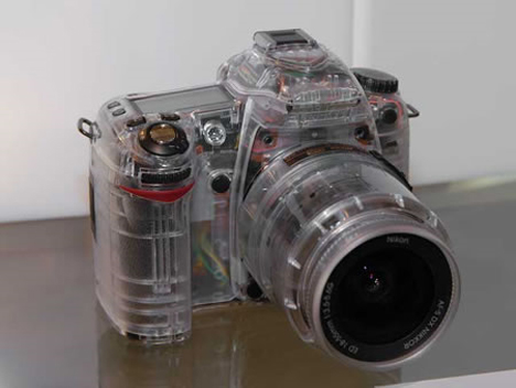 transparent nikon D80 DSLR
