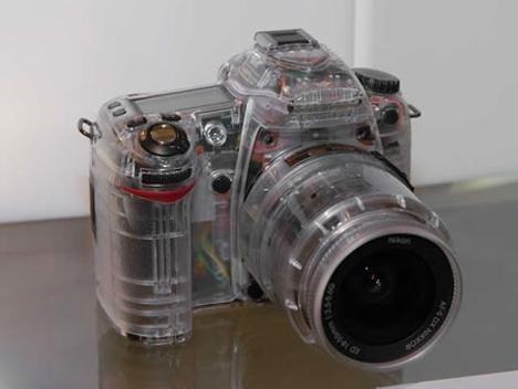 transparent nikon D80 DSLR