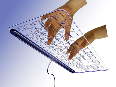 transparent see through keyboard