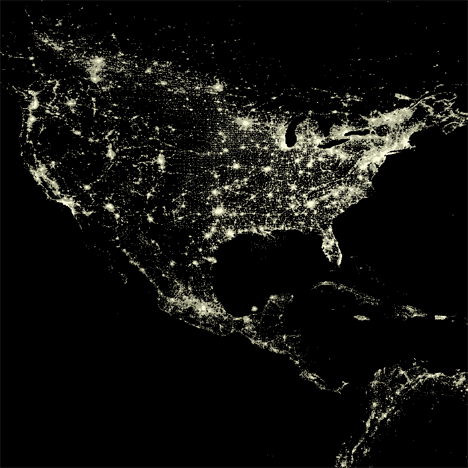 united states nighttime lights
