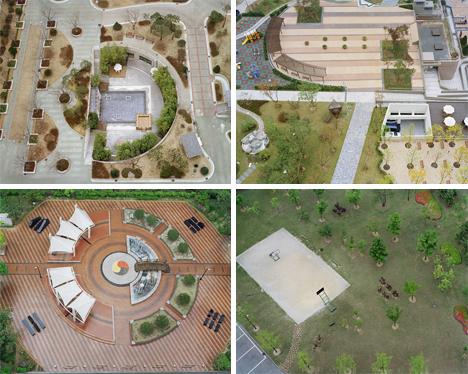 Hosang Park Korean public spaces aerial photographs