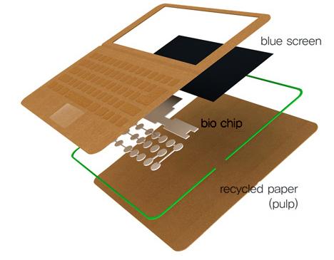 disposable laptop cardboard computer
