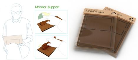 disposable laptop paper cardboard computer concept