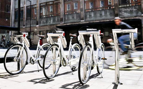 energy generating bicycle rental system