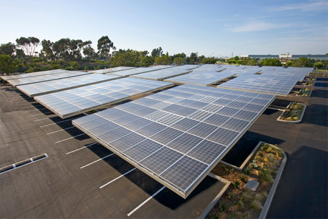 envision solar parking lot panels