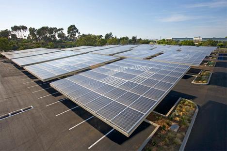 envision solar parking lot panels