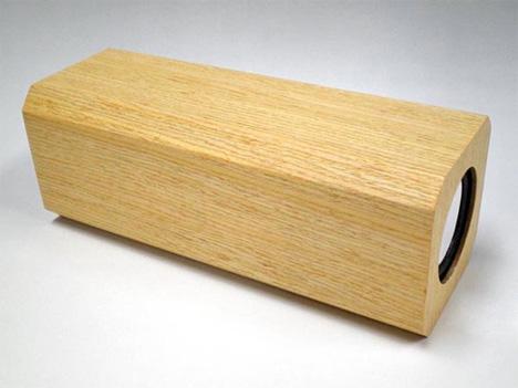 evergreen speakers wooden ipod speakers