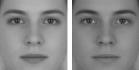 illusion of sex increased facial contrast