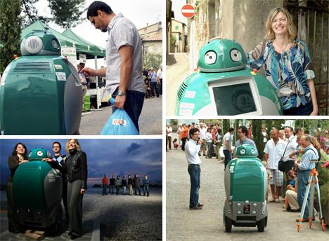 italian dustbot dustcart robot wall-e