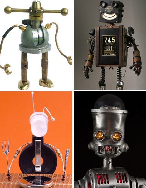 junk recycled robots