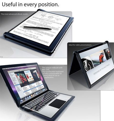 macbook touch design bendable computer concept