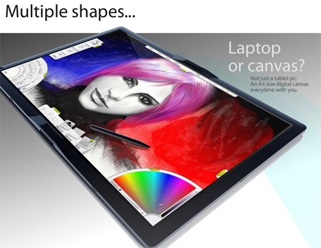 macbook touch tablet pc concept