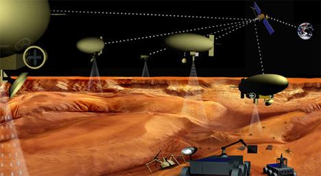nasa artist rendering robot armada space exploration