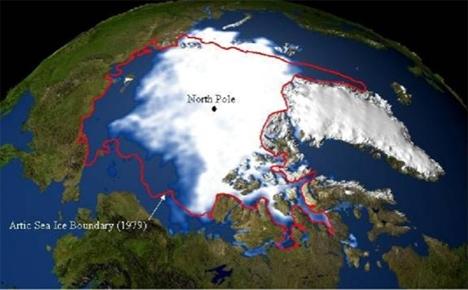 polar ice melting earths axis shifting