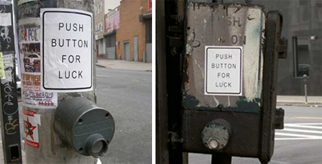 push button for luck crosswalk buttons