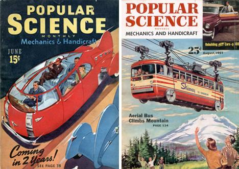 retrofuturistic buses