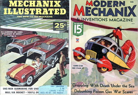 retrofuturistic personal vehicles