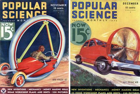 retrofuturistic round cars