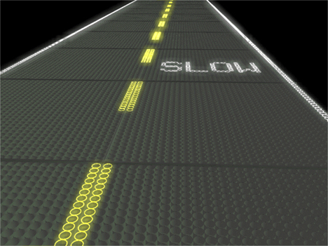 solar collecting smart road panels