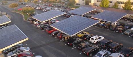 solar parking lot trees dell headquarters