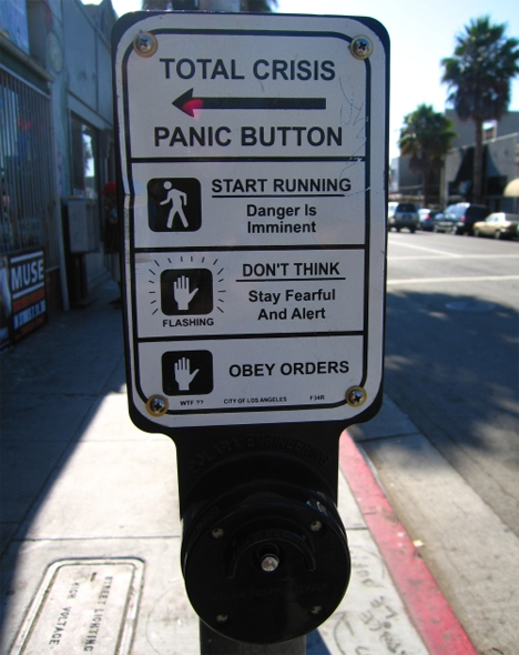 total crisis panic button crosswalk button