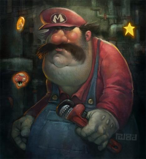 woodyart grumpy mario