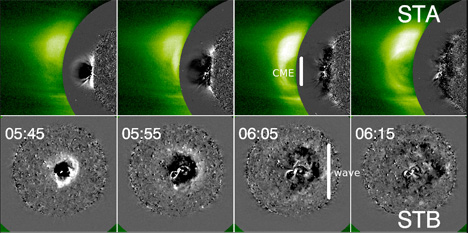 STEREO view of solar tsunami