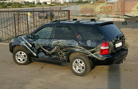 alien art car