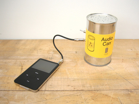 audio can ipod speaker in a tin can