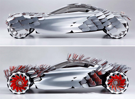 Bristling Bmw Scintillating Solar Electric Luxury Car Concept