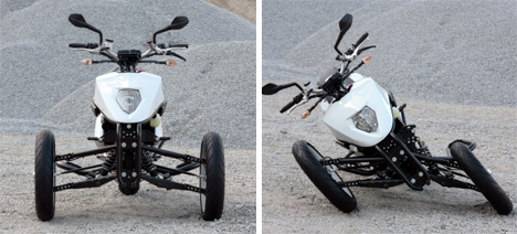 brudeli leanster three wheeled motorcycle