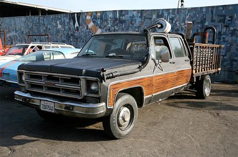 chicken john rinaldi coffee grounds pickup truck