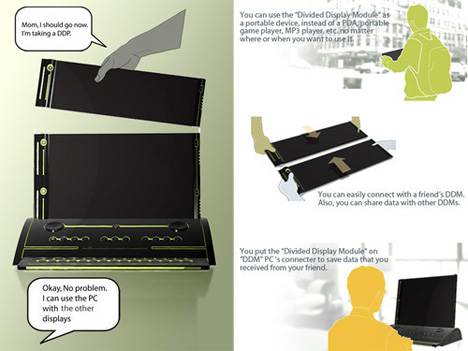 divided display module dividing computer