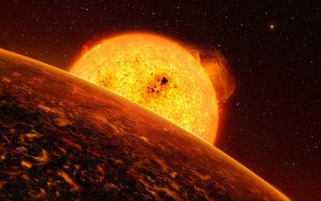 hellish planet