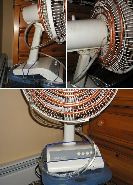 coolest hack ever cool water pipes fan diy ac. Black Bedroom Furniture Sets. Home Design Ideas
