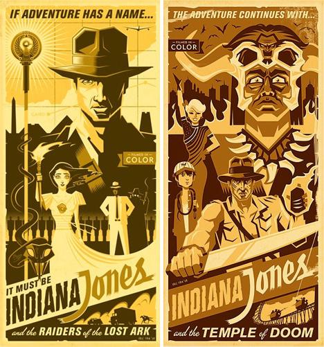 rad retro re dos ten tantilizing movie posters by eric tan