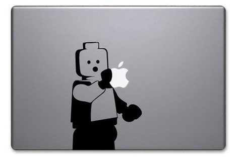 lego man apple laptop art