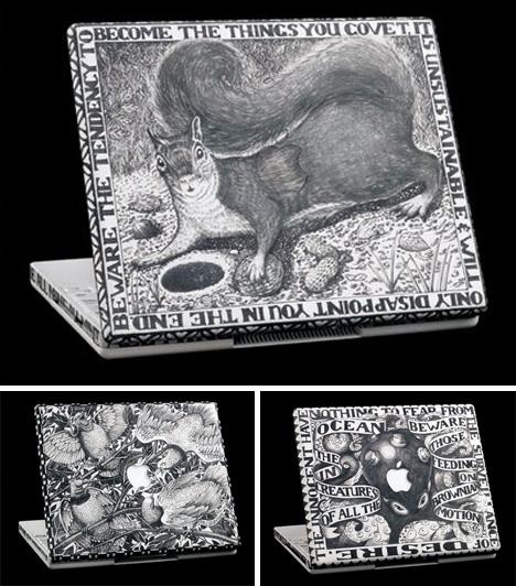 macbook engraved art