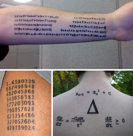 math tattoos