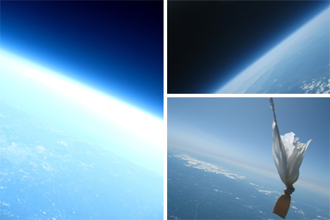 mit students weather balloon space pictures