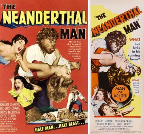 neaderthal man movie poster