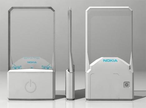 nokia concept transparent phone
