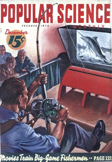 retrofuturistic fishing video game