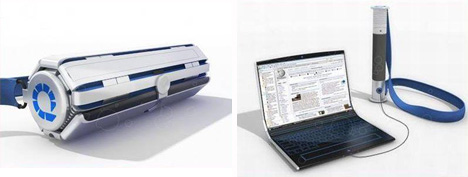 rolling oled laptop