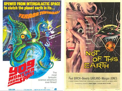 sci fi alien movies vintage movie posters