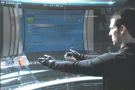 sixthsense minority report virtual interface