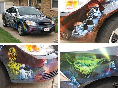 star wars art car