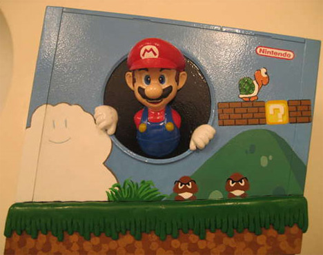 super mario bros wii case mod