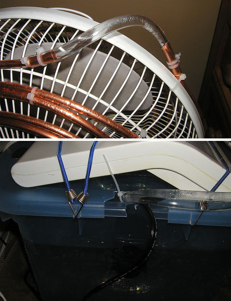 use a fan as an air conditioner