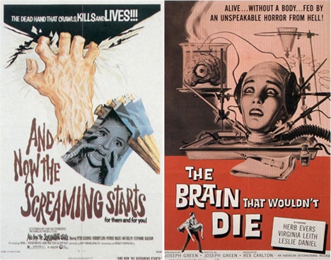 vintage sci fi horror movie posters